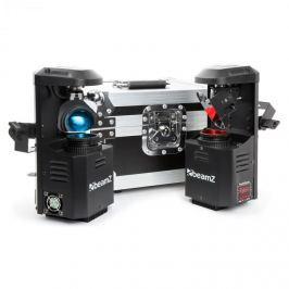 Beamz 3-in1-pocketscan LED készlet, két szkennerrel & flightcase kofferrel, 12W-cree-LED, 7 szín