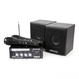 Fenton AV380BT karaoke szett erősítővel, USB, SD, BT, 2 x hangfal, 2 x mikrofon