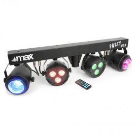 MAX LED-Partybar 2xPAR-RGBW-LEDS + RGBW-jellyball, állvánnyal és IR távirányítóval