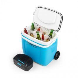 Auna Picknicker Trolley Music Cooler, hűtődoboz, bőrönd, 36 l, BT hangfal, kék