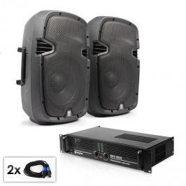 """Electronic-Star """"SPJ Boom 10MKII"""" PA szett, 25cm hangfal pár, erősítő 800W"""