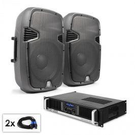 """Electronic-Star """"SPJ Boom 12 MKII"""" PA szett, 30cm hangfal pár, erősítő 1200W"""