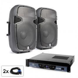 """Electronic-Star """"SPJ Boom 15"""" PA szett, 38cm hangfal pár, erősítő 1500W"""