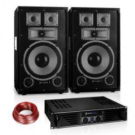 """Electronic-Star Saphir Series PA szett """"Warm Up Party"""" 10PLUS, 2 hangfallal és erősítővel, 600W"""
