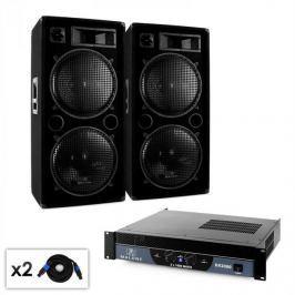 """Malone 2.0 """"Bass"""" DJ PA szett, erősítő, hangfal, kábel, 2000W"""