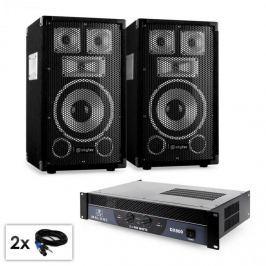 """Electronic-Star Saphir Series """"Warm Up Party TX8"""" PA szett, 2x 20cm hangfallal és erősítővel, 800W"""