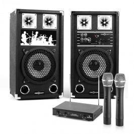 Electronic-Star Karaoke szett - aktív hangfalpár vezeték nélküli mikrofonokkal