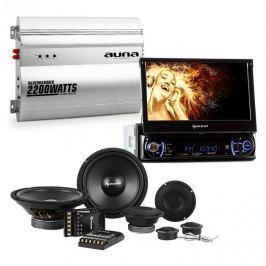 """Auna MVD-240, 7""""-es érintős autórádió, autó Hi-Fi készlet, hangfal, 2-csatornás erősítő"""