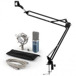 Auna auna MIC-900BL USB mikrofon szett V3 kondenzátoros mikrofon + mikrofontartó kar, kék