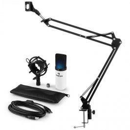 Auna auna MIC-900WH-LED USB mikrofon szett V3 kondenzátoros mikrofon + mikrofontartó kar, LED, fehér