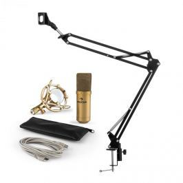 Auna MIC-900G V3, mikrofon készlet, USB kondenzátoros mikrofon, kar, kardioid iránykarakterisztika, arany