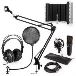 Auna auna MIC-920B USB mikrofon szett V5 fejhallgató, mikrofon, pop filter, mikrofonernyő, mikrofon kar