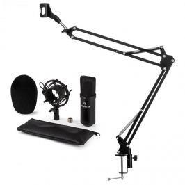 Auna auna CM001B mikrofon szett V3 kondenzátoros mikrofon, mikrofontartó kar, fekete