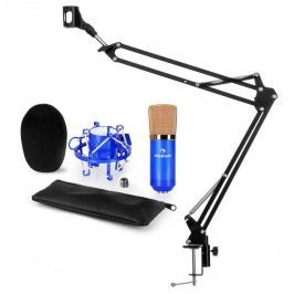 Auna CM001BG V3, kék, mikrofon készlet, XLR kondenzátoros mikrofon, kar