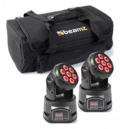 Beamz fényhatás készlet, 2 x MHL-74 Moving-Head Mini Wash & 1 x Soft Case