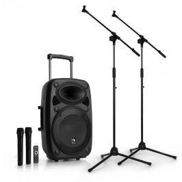 """Auna Streetstar 12 mobil PA mikrofon állvány készlet, 12""""-es PA berendezés, 2 x mikrofon"""