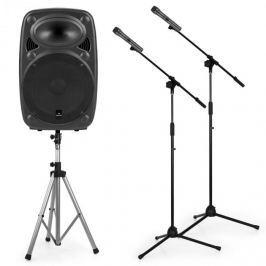 """Auna Streetstar 12 mobil PA készlet, 12""""-es PA állvány hangfalra, 2 x mikrofon állvány"""