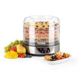 Klarstein Fruitower D gyümölcsszárító gép, 35-70°C, időzítő, 5 polc, 200-240W, nemesacél