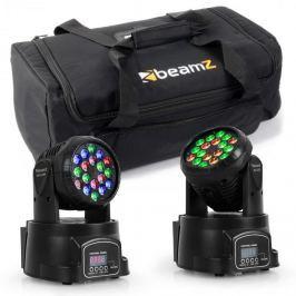 Beamz fényhatás készlet hordtáskával, 2 x moving-head LED-108 + 1 x táska
