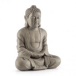 Blumfeldt Siddhartha szobor, 60 cm, üvegszálas cement, terméskő megjelenés