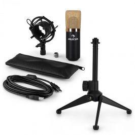 Auna auna MIC-900BG-LED V1 USB mikrofon szett, kondenzátor mikrofon   asztali állvány