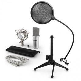 Auna auna MIC-900S V2, USB mikrofon készlet, kondenzátoros mikrofon + pop szűrő + asztali állvány