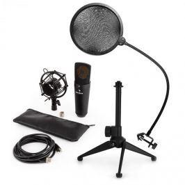 Auna auna MIC-920B USB mikrofon készlet V2 - kondenzátoros mikrofon, mikrofon állvány, pop szűrő