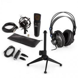 Auna auna MIC-920B USB mikrofon készlet V2 - fülhallgató, kondenzátoros mikrofon, mikrofon állvány, pop szűrő