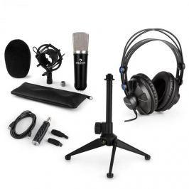 Auna auna CM003 mikrofon készlet V1, kondenzátoros mikrofon, USB-konverter, fülhallgató