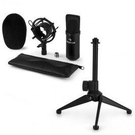 Auna auna CM00B mikrofon készlet V1 - fekete stúdió mikrofon pókkal és asztali állvánnyal
