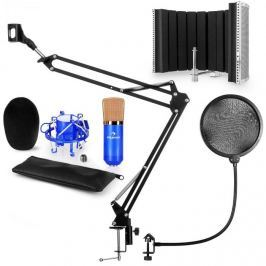 Auna CM001BG mikrofon készlet V5 kondenzátoros mikrofon, mikrofonkar, pop szűrő, mikrofonpanel