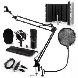 Auna CM001B mikrofon készlet V5, kondenzátoros mikrofon, USB-adapter, mikrofonkar, pop szűrő, panel