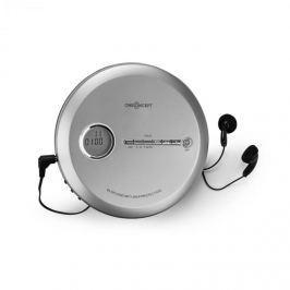 OneConcept CDC 100 MP3 discman, hordozható CD-lejászó, Antishock, ESP, Micro-USB ezüst
