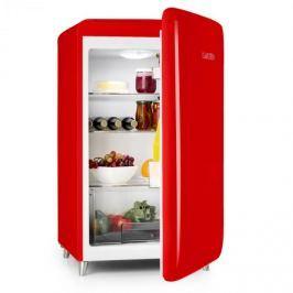 Klarstein PopArt-Bar Rot retró hűtőszekrény, 136 l, 3 emelet, zöldségrekesz, A+, piros