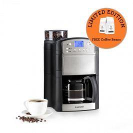 Klarstein Aromatica kávéfőző, daráló, 10 csésze, üveg kancsó, aroma+, nemesacél