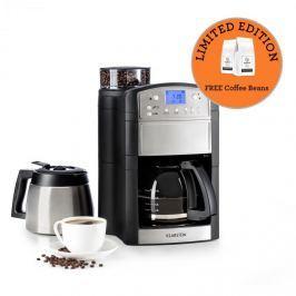Klarstein Aromatica Set kávéfőző, daráló, üveg kancsó/termosz, nemesacél