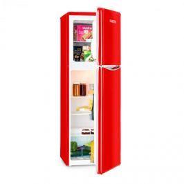 Klarstein Monroe Red XL hűtőszekrény fagyasztóval, 97/39 l, A+, retró dizájn, piros
