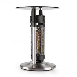 Blumfeldt Primal Heat 65, bisztró asztal, szén IR fűtőtest, 1200 W LED, 65 cm, üveg