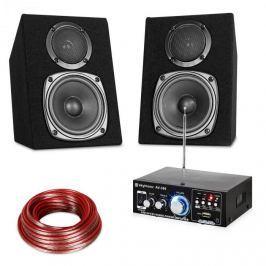 Electronic-Star HiFi Stereo Sound Set, erősítő és hangfal készlet, USB, SD, MP3 - 30 Watt