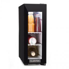 Klarstein Frosty borhűtő, 13 l, 8-18 °C, üvegajtó, 35 dB, fekete