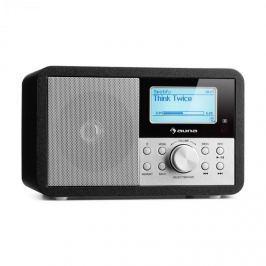 Auna Worldwide Mini internet rádió, WLAN, hálózati lejátszó, USB, MP3, AUX, FM tuner, fekete