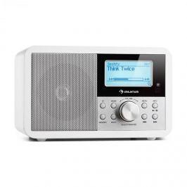 Auna Worldwide Mini internet rádió, WLAN, hálózati lejátszó, USB, MP3, AUX, FM tuner, fehér