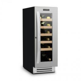 Klarstein Vinovilla Smart, borhűtő, hűtőszekrény, 50 l/20 palack, üvegajtó, rozsdamentes acél