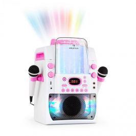Auna Kara Liquida BT karaoke készülék, fény-show, szökőkút, bluetooth, fehér/rózsaszín