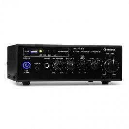 Auna Amp3 USB mini sztereó erősítő, mikrofon- és fülhallgató kimenet, fekete