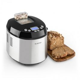 Klarstein Brotilde, kenyérsütőgép, LCD kijelző, kukucskáló ablak, 650 W, rozsdamentes acél