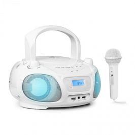 Auna Roadie Sing boombox, FM rádió, fény show, CD-lejátszó, mikrofon, fehér