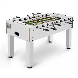 Klarfit Maracanã asztali foci, csocsó asztal, parafa labdák, ital tartó, fehér