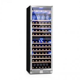Klarstein Vinovilla Grande Duo nagy kapacitású borhűtő, 425 l, 165 palack, 3 színű LED, üvegajtó