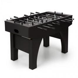 Klarfit Anfield asztali foci, csocsó asztal, fém rudak, golyós csapágy, fekete
